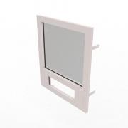 Конструкция оконная со стеклом 800х700мм 3 кл.пулестойкости