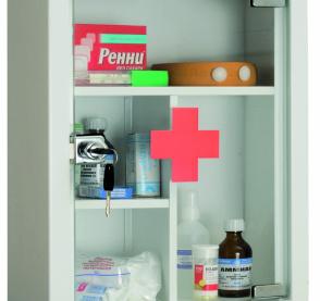 Аптечка AMD-39G (дверь из стекла)