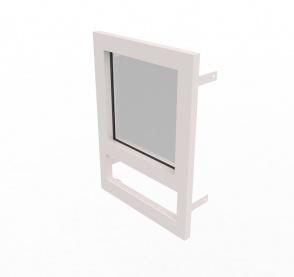 Конструкция оконная со стеклом 500х500мм 1 кл.пулестойкости