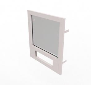 Конструкция оконная со стеклом 800х700мм 1 кл.пулестойкости