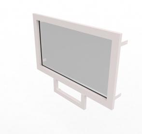 Конструкция оконная со стеклом 1260х700мм 1 кл.пулестойкости
